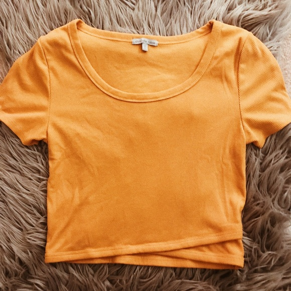0484244853a3e2 Charlotte Russe Tops | Mustard Yellow Crop Top | Poshmark